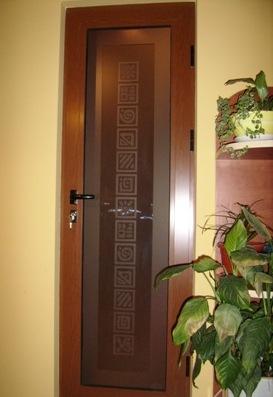 interior door glass panel